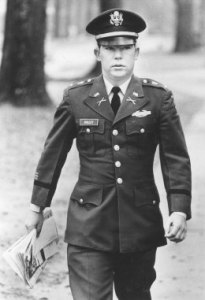Lt. William Calley arrives for his court-martial at Fort Benning, Georgia in 1971. (PHOTO BY TIME)
